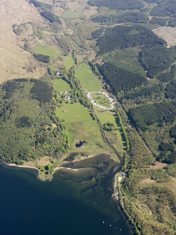 General oblique aerial view of Castle Lachlan, taken from the WSW.