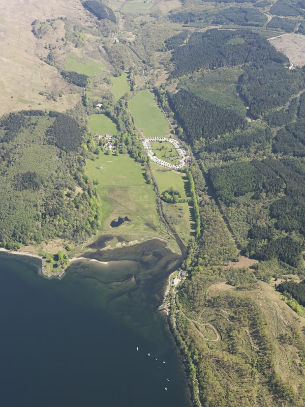 General oblique aerial view of Castle Lachlan, taken from the SW.