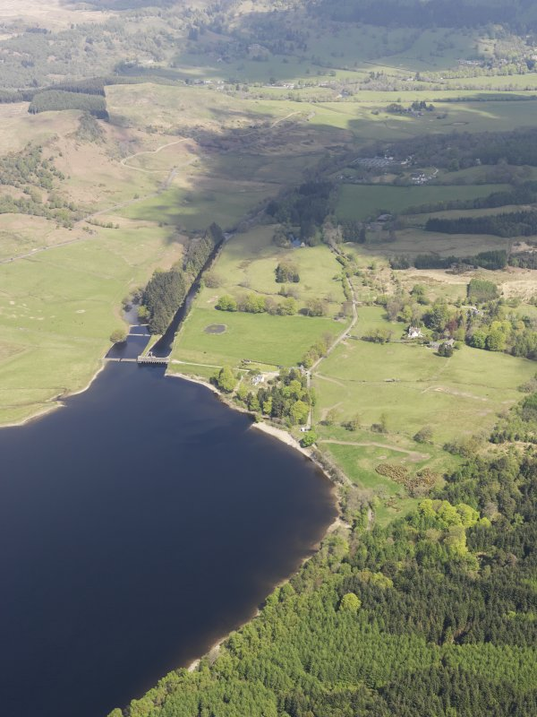 General oblique aerial view of Loch Venachar, taken from the SSW.