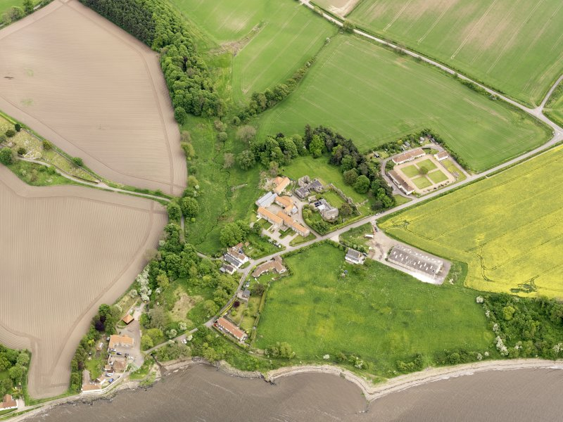 General oblique aerial view of Balmerino, taken from the NW.