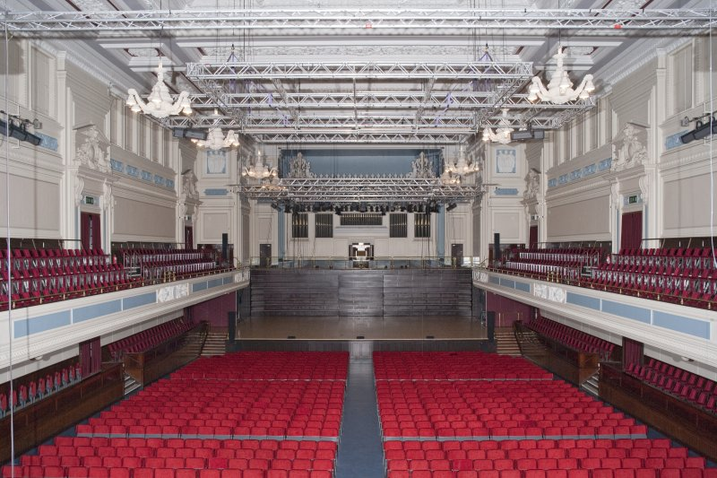 Interior. Auditorium from balcony to west.