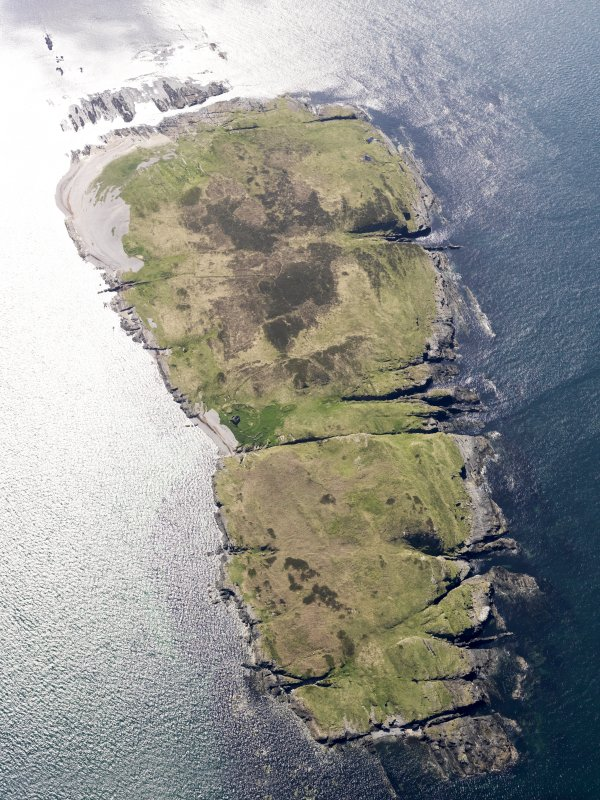 General oblique aerial view of Nave Island, taken from the ENE.