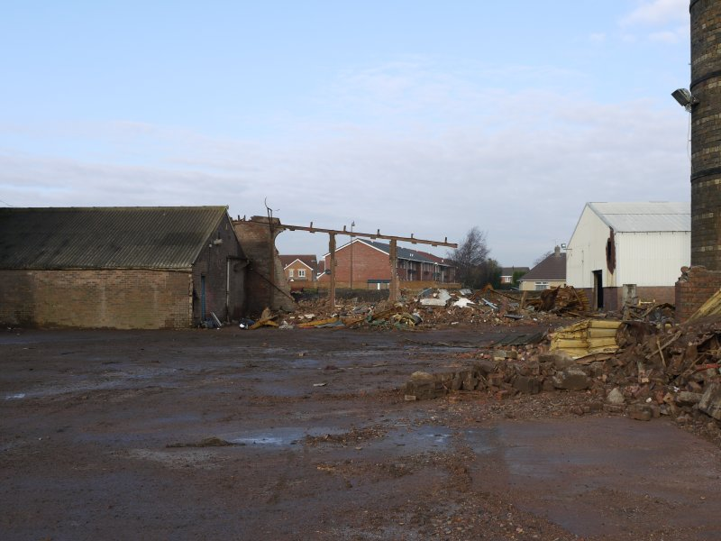 View from south looking towards the site of the now demolished ? brick drier building formerly at NS94418 68002.