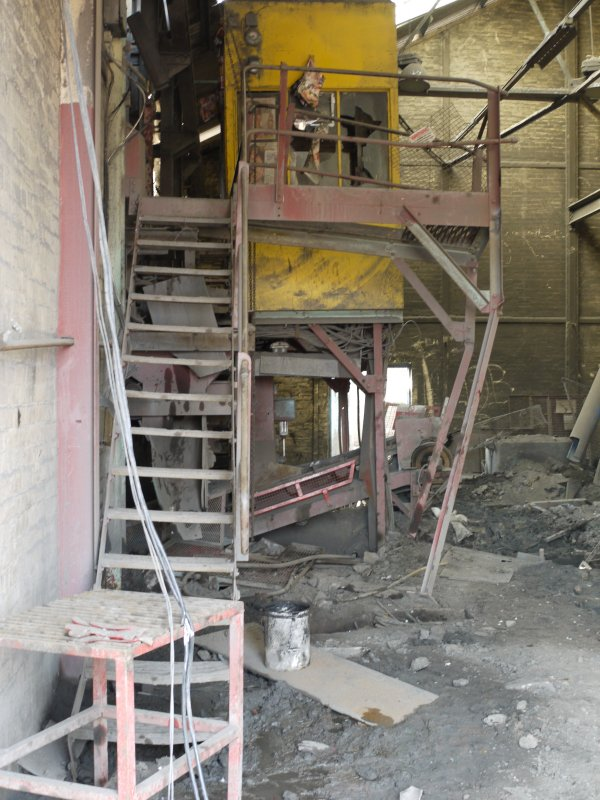 Pan House/ Machine Wing., ground floor. Interior. Gantry to south end of pan house  from north east