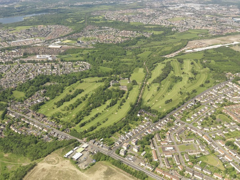 Oblique aerial view of Colville Park Golf Course, taken from the SE.