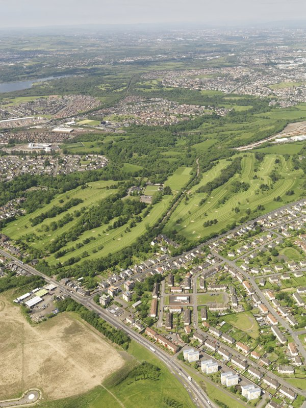 Oblique aerial view of Colville Park Golf Course, taken from the E.