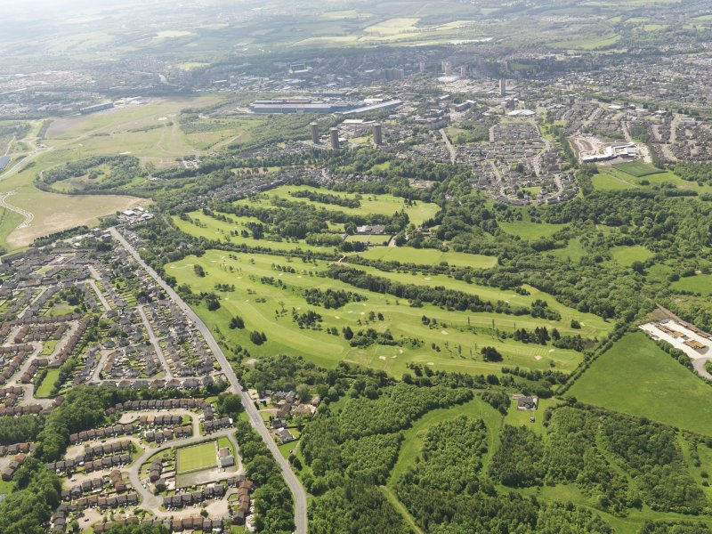 Oblique aerial view of Colville Park Golf Course, taken from the SN.