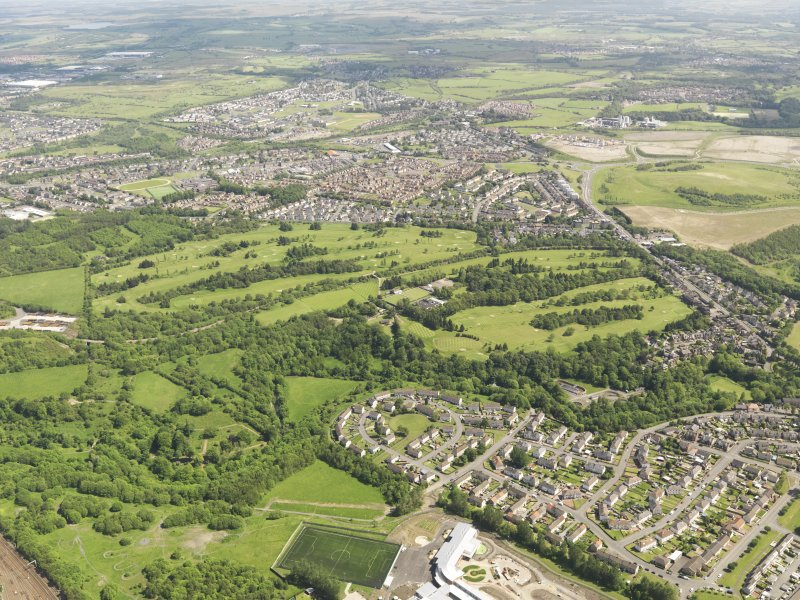 Oblique aerial view of Colville Park Golf Course, taken from the SW.
