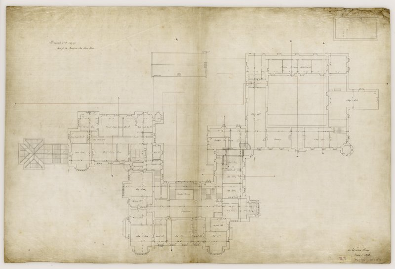 Argyll, Kilmartin, Poltalloch House. Plan of principal bedroom floor.