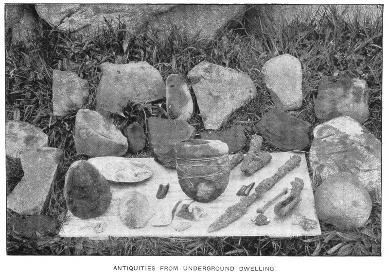 'Antiquities from underground dwelling', taken by Cherry Kearton, 1896