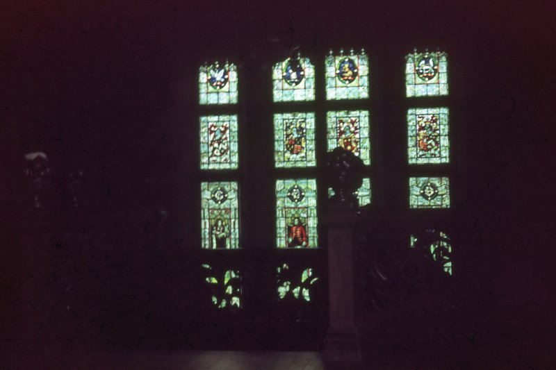 Carbis Dale Castle, Interior view of stained glass window.