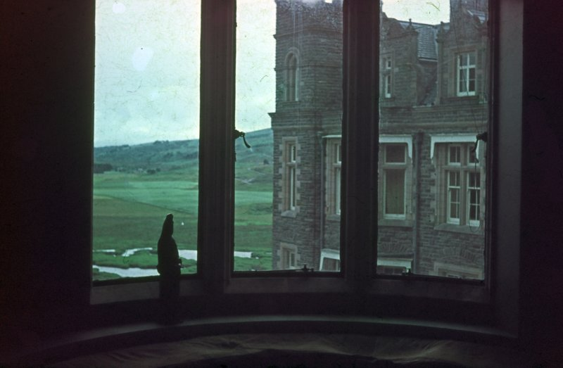 Carbisdale Castle, Interior. View from interior window.