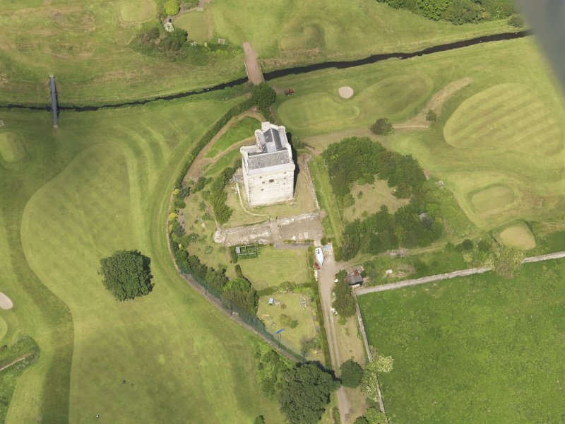 Oblique aerial view of Niddry Castle, taken from the S.