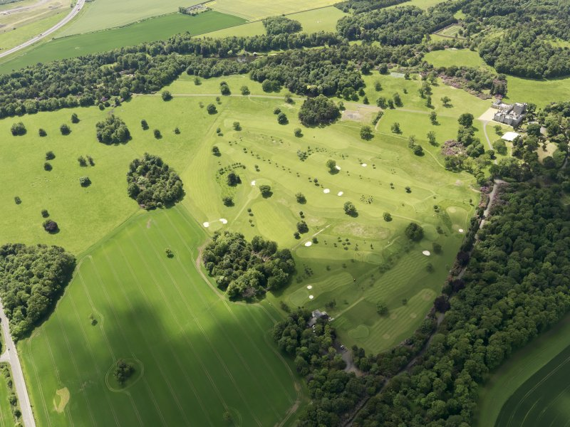 Oblique aerial view of Dundas Park Golf Course, taken from the NE.