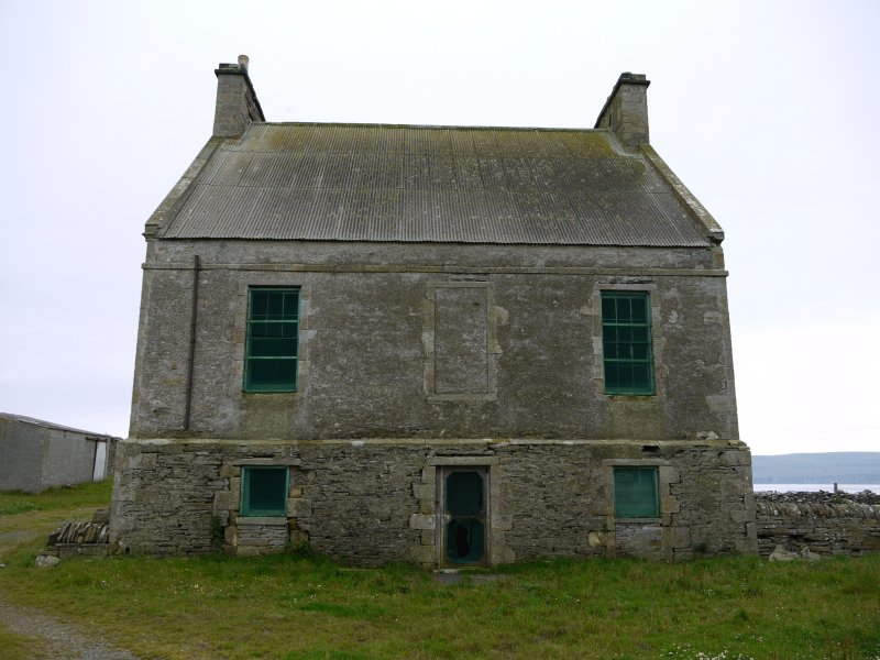 View of Hall of Clestrain House, Orkney, from north