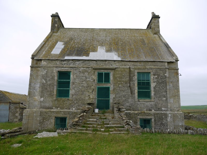 View of Hall of Clestrain House, Orkney, from south.