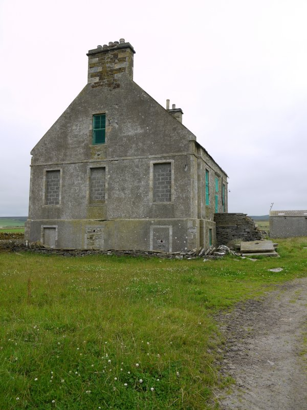 View of Hall of Clestrain House, Orkney, from west.