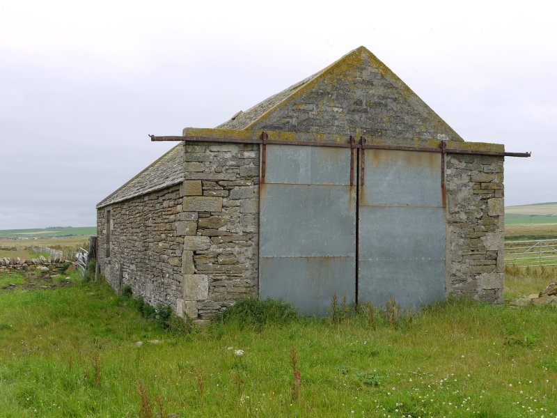 View of outbuilding at Hall of Clestrain House, Orkney.
