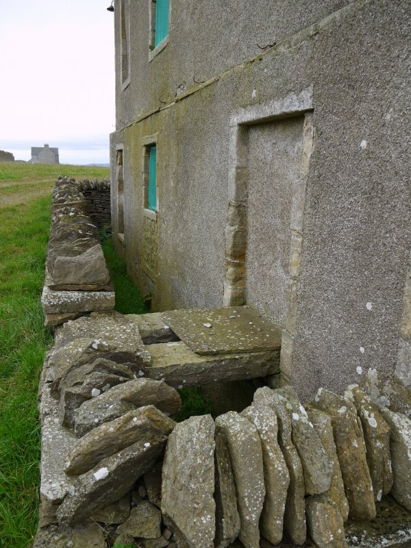 Detail of rear elevation of Hall of Clestrain House, Orkney.