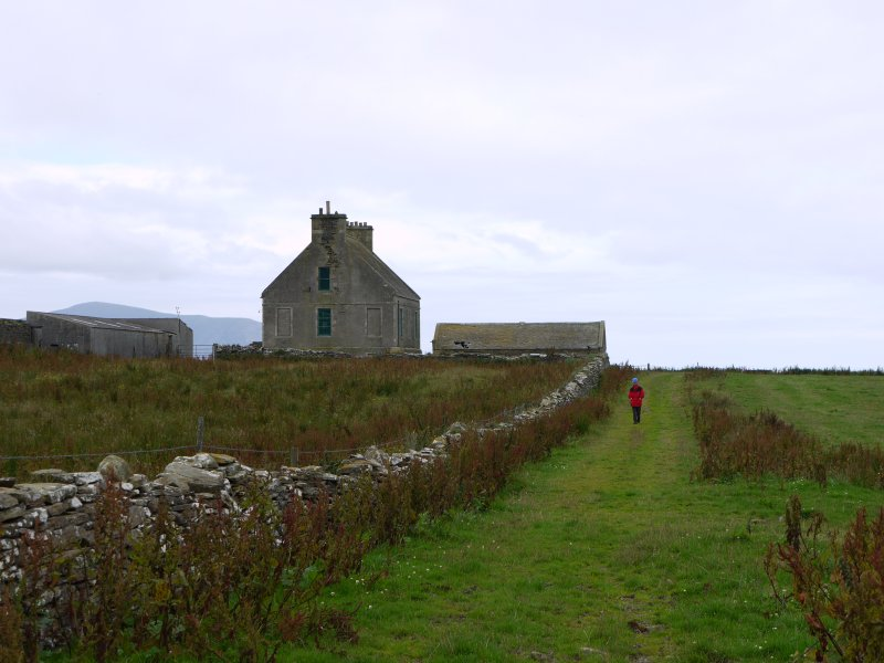 General view of Hall of Clestrain House, Orkney.