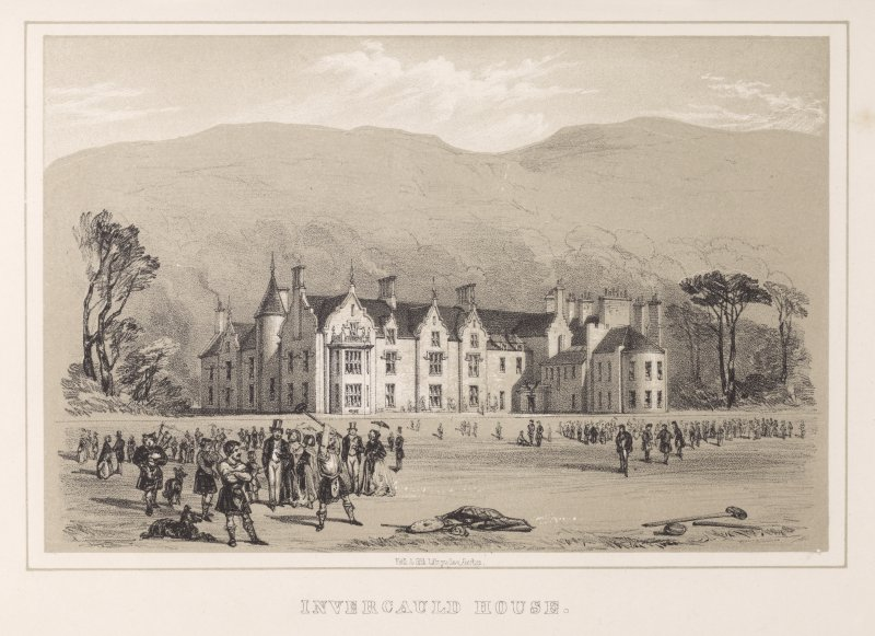 Engraving of Invercauld House. Insc.:'Invercauld House'