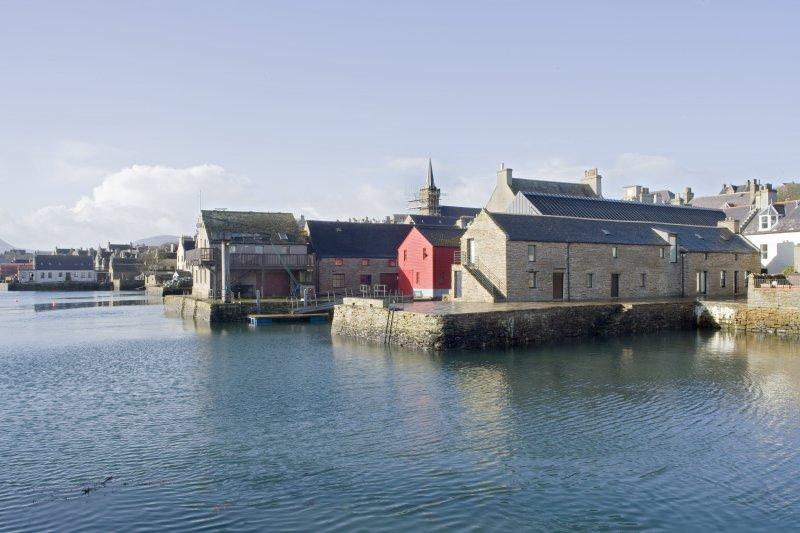 General view of Stromness quayside, taken from the NNE.