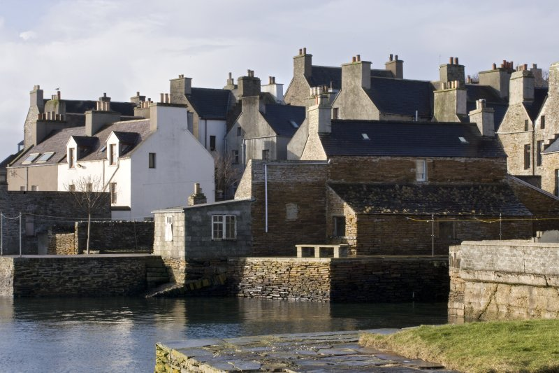 View of old quays, Victoria Street, Stromness, taken from the NE.
