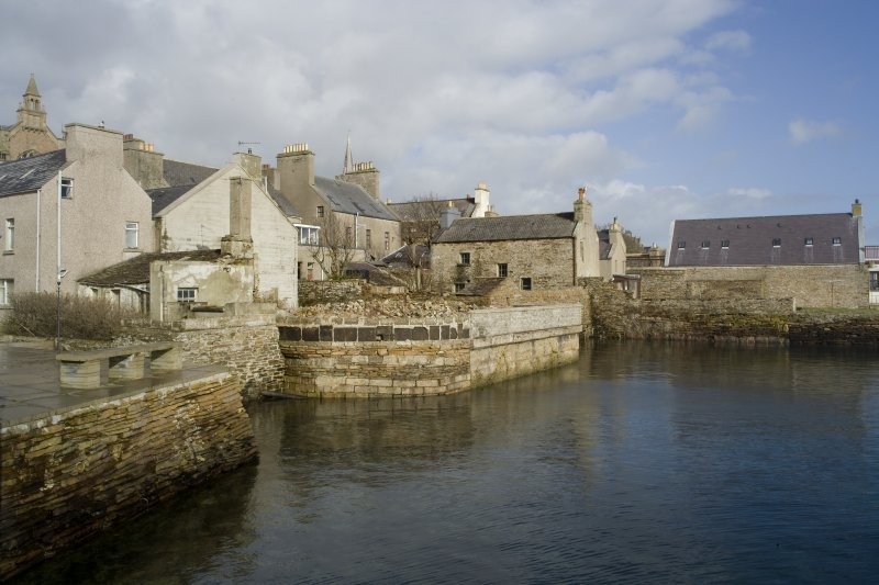 View of old quays, Victoria Street, Stromness, taken from the SSE.