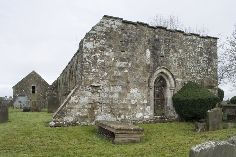 View of west wall of the church, taken from the west north west