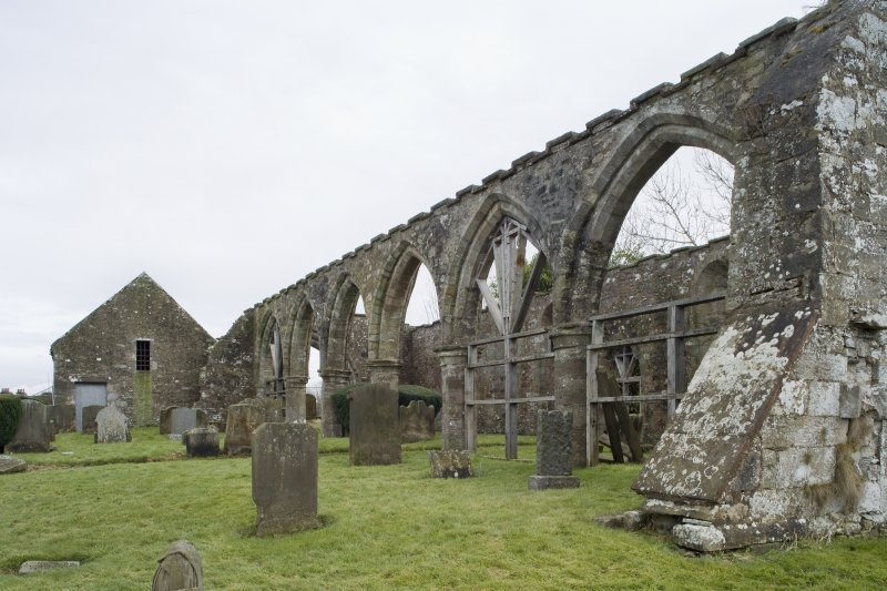 General view looking the north arcade of the church, taken from the west north west