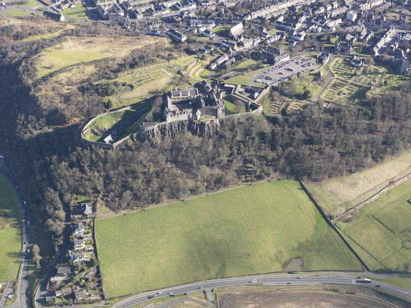General oblique aerial view of Stirling Castle, taken from the WSW.