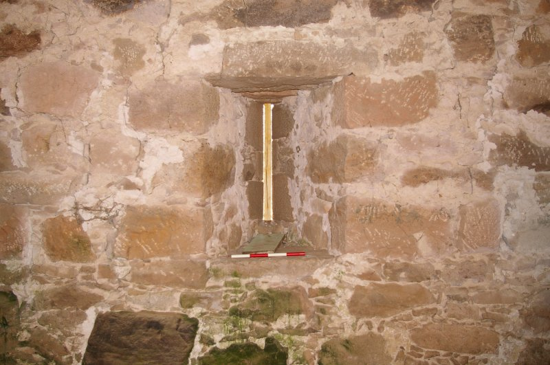 Slot Window in W Wall of G.F., Ground Floor, View from West