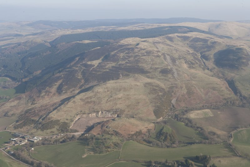 General oblique aerial of Pairney and Castle Craig with Hologrogin beyond, looking ESE.