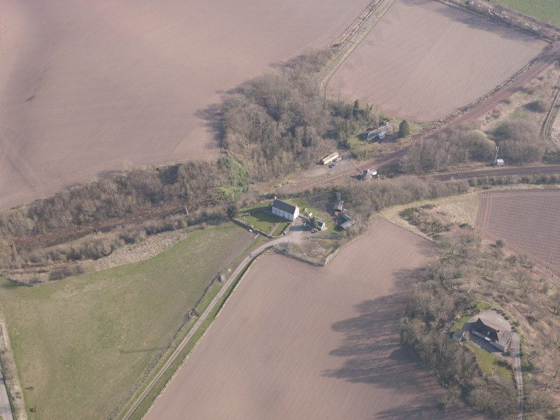 Oblique aerial view of Hilton House, looking SSE.