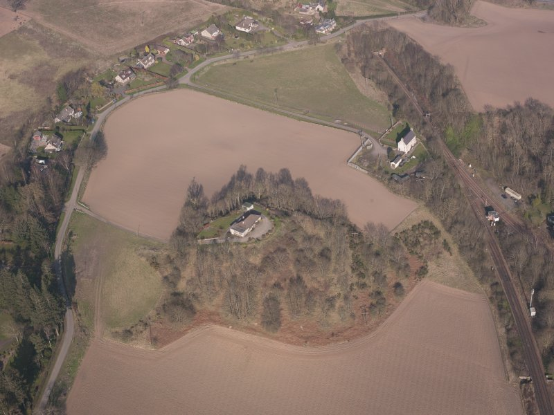 Oblique aerial view of Hilton House, looking ENE.