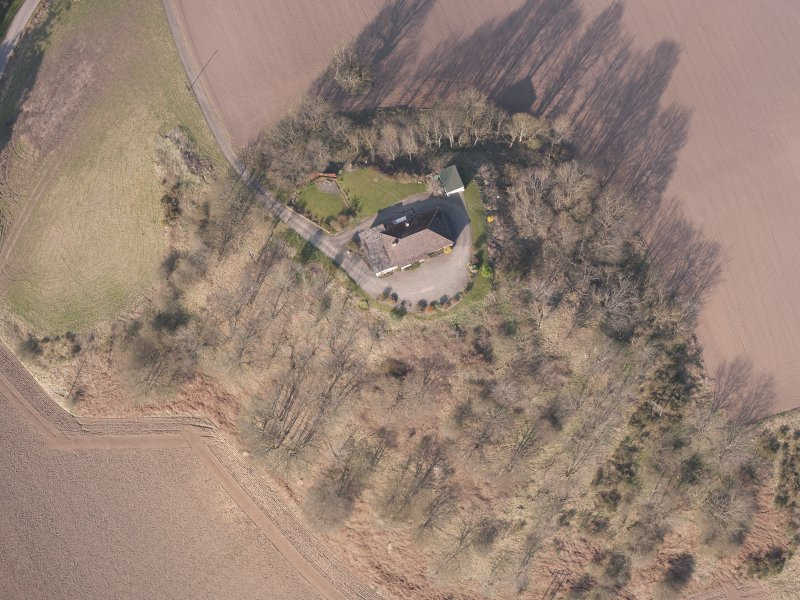 Oblique aerial view of Hilton House, looking NNW.