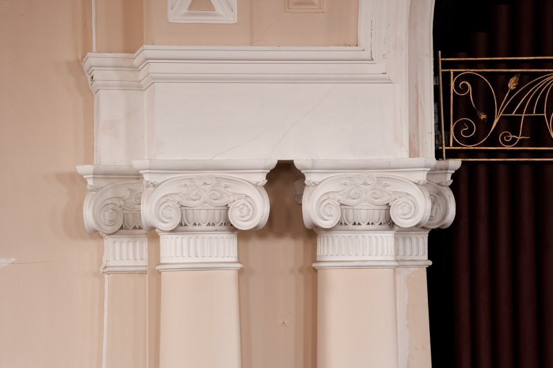Interior. Detail of pilaster capitals