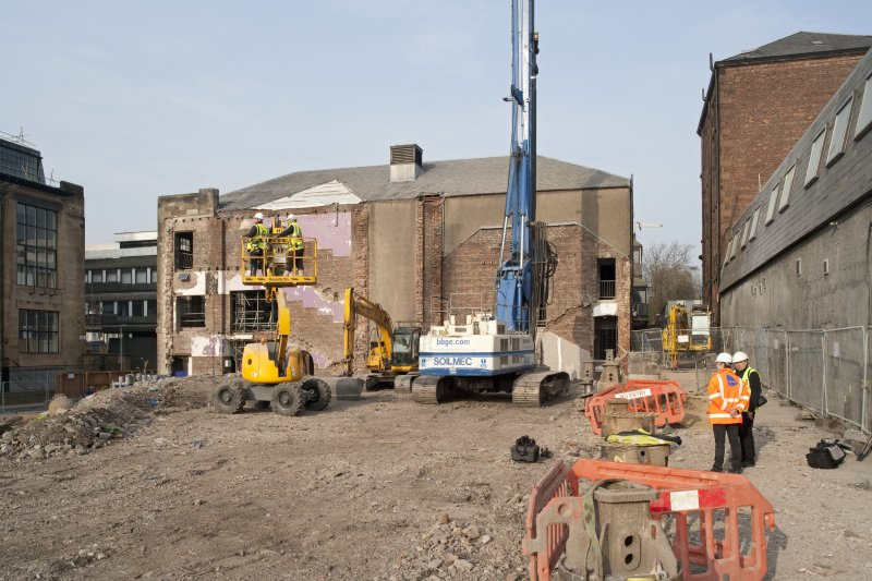 View of site of demolished Art School building to north of Renfrew Street