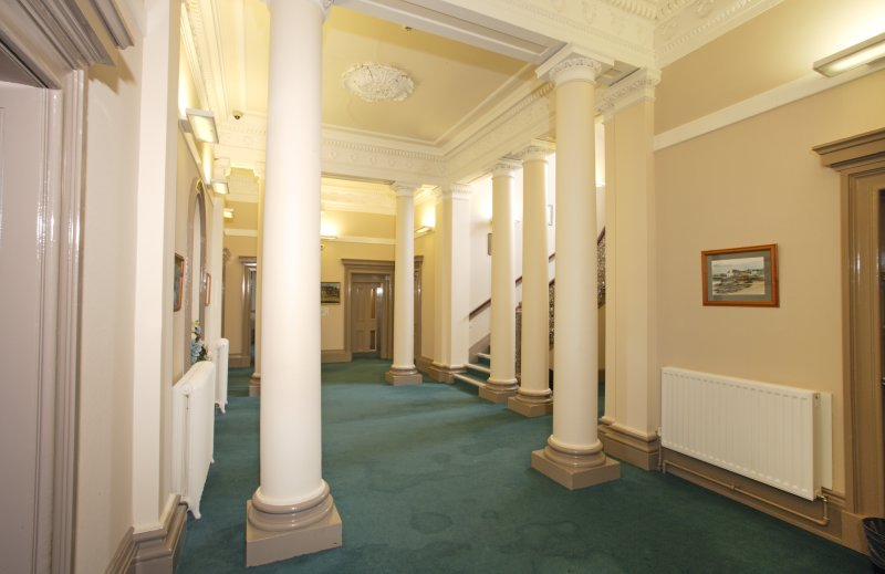 Interior. Ground floor. Hall from south south west.