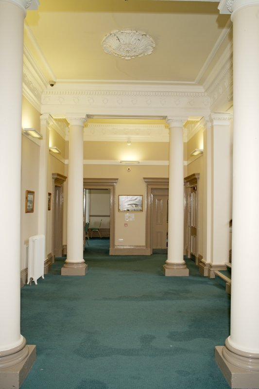 Interior. Ground floor. Hall from south.