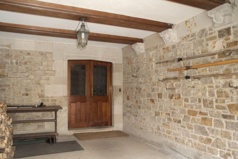 Interior. Ground floor, entrance porch, view from east