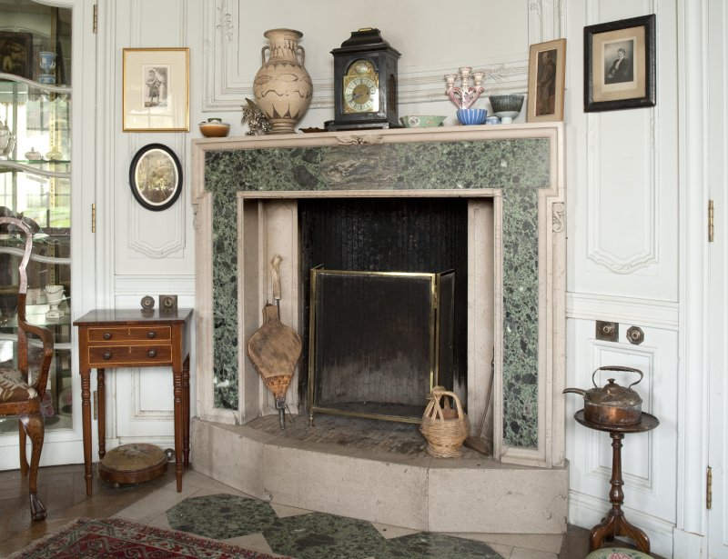 Interior. 1st floor, morning room, detail of fireplace