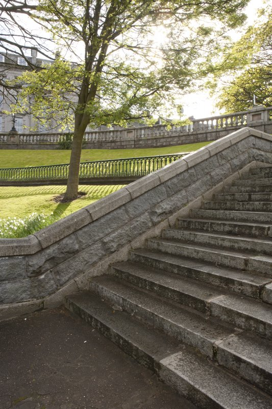 Detail of steps at the north east end of the gardens.