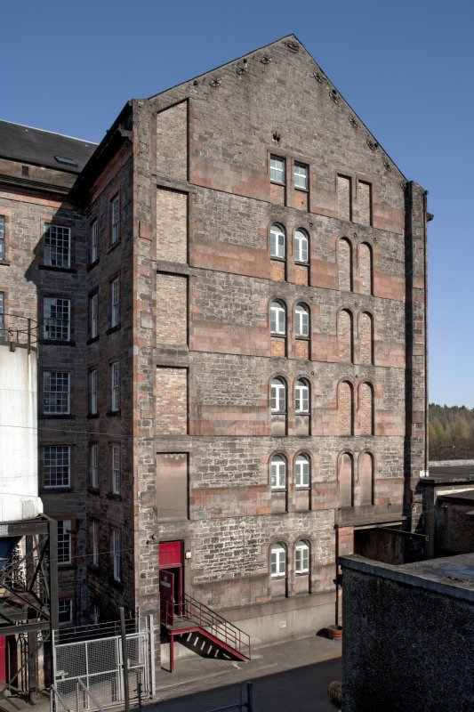 Spinning mill, view from roof of bonded warehouse from west