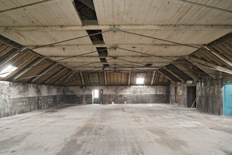 Interior. Spinning mill, 5th floor, main room, view from north west