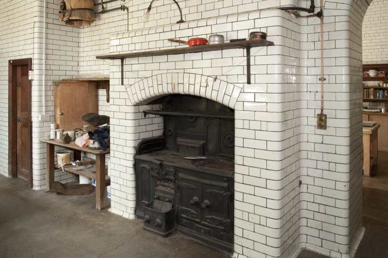 Interior. Ground floor, scullery, fireplace with range