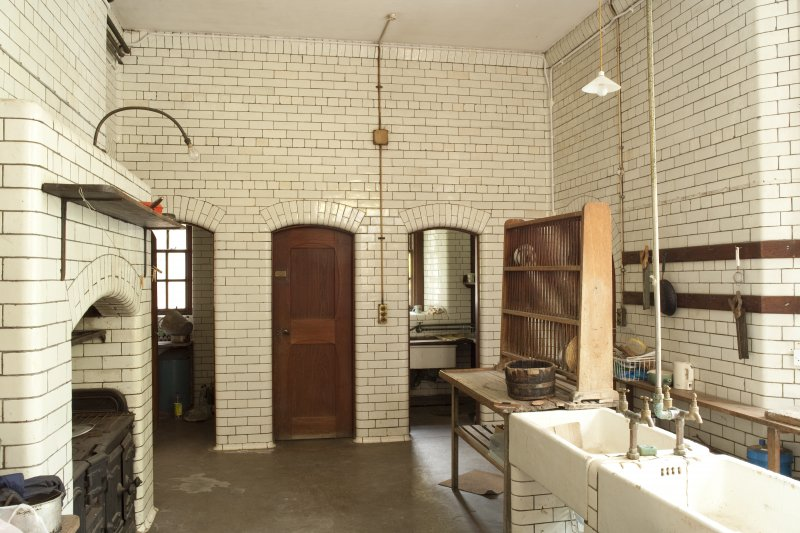 Interior. Ground floor, scullery, view from east