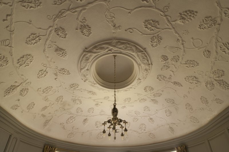 Interior. 2nd floor, Miss Noble's bedroom, view of ceiling