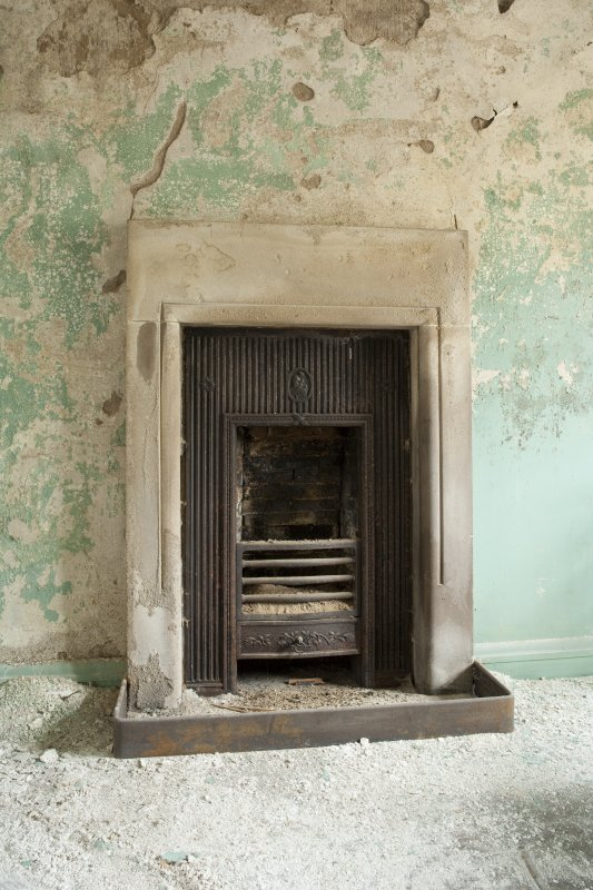 Interior. 3rd foor, servants bedroom, detail of fireplace