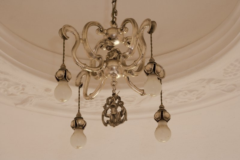Interior. 2nd floor, bedroom (no.7 on plan), detail of light fitting